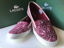 LACOSTE | WOMENS LADIES CASUAL TRAINERS FLATS SUMMER SLIP ON SHOE PUMPS UK4 RED