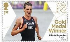 UK Team GB Gold Medal Winner Single Stamp - Alistair Brownlee MNH 2012