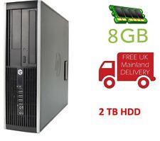 COMPUTER HP 6200 i5 8GB RAM 2TB HDD DVD Windows 10 PRO pre-loaded