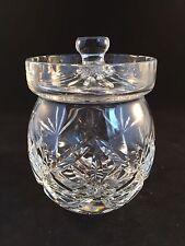 "Crystal Honey Pot Preserve Pot Stunning Condition 4"" Tall"