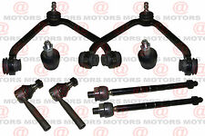 Suspension Kit 1 Piece Upper Control Arms Lower Ball Joints Inner Outer Tie Rods