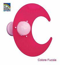 Plafoniera Colore Fucsia Modello Luna per Camerette Bambini