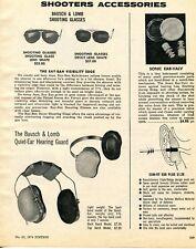 1974 Print Ad of Bausch & Lomb B&L Ray-Ban Shooting Glasses & Hearing Guard