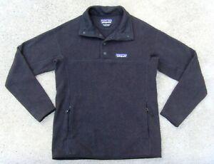 PATAGONIA Better Sweater Snap-T Pullover Fleece Jacket women's Sz XS Black