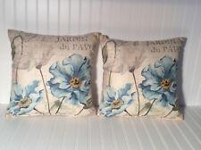 Decorative pillows 18X18. Floral Design. Set Of Two