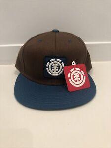 Element Men's Snapback Cap Hat Brown And Turquoise Size L/XL Chestnut