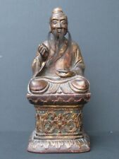 Antique Figure Dignitary Wooden, China
