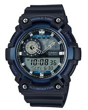 Casio Watch * AEQ200W-2AV Illuminator World Time Anadigi Blue/Black COD PayPal