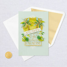 Hallmark Anniversary Card by Signature ~ Another Day in Paradise w/ 3D Palms