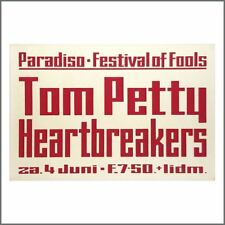 Tom Petty & The Heartbreakers 77 Paradiso Festival Of Fools Concert Poster (NLD)