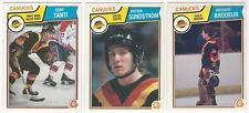 9 1983-84 OPC HOCKEY VANCOUVER CANUCKS CARDS (TANTI RC/SUNDSTROM RC+++)