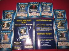 STAR WARS SAGA FRENCH TICKETS LOTTERY COMPLETE SET EPISODE 1 FRANCAISE DES JEUX