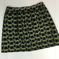 Zebra Print Women's Skirt Size 10 Black