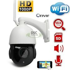 Onvif 1080P 18X Zoom WIFI CCTV Speed Dome PTZ IP Camera Outdoor Audio + Speaker