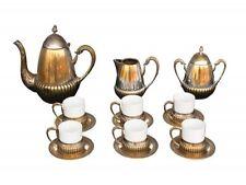 service à thé 1930 métal argenté 9 pièces