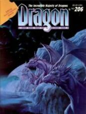 """TSR Dragon Magazine #206 """"The Incredible Majesty of Dragons"""" VG+"""