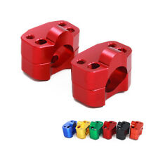 CNC Billet Red HandleBar Fat Bar Risers Mount Clamp Adaptor 22MM exchange 28MM