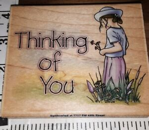Thinking of you, stampabilities,B28,rubber, wood