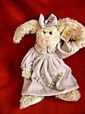 "The Bearington Collection 12"" vintage Bunny Rabbit ""Clare""  Lavender dress w/tag"