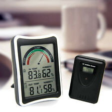 Wireless LCD Digital Thermometer Hygrometer Humidity Weather Meter Temperature