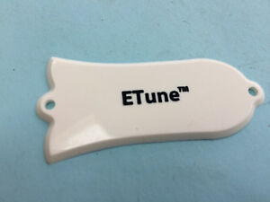 "Genuine Original Gibson White ""E-Tune"" Truss Rod Cover Plate-Les Paul"