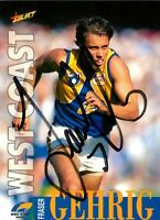 ✺Signed✺ 1996 WEST COAST EAGLES AFL Card FRASER GEHRIG Centenary
