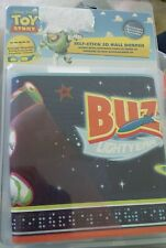 """Toy Story Buzz Lightyear Wallpaper Border   3D w/Glasses Included  15' x 5"""" NEW"""