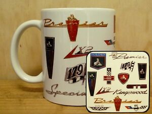 300ml COFFEE MUG WITH MATCHING COASTER - OLD HOLDEN BADGES