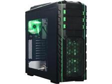 DIYPC Skyline-06-WG Black/Green Dual USB 3.0 ATX Full Tower Gaming Computer Case