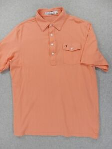 Criquet Pocket PLAYERS S/S Polo Shirt (Mens Large) Orange