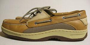 Sperry Top-Sider Billfish 3-Eye Tan/Beige Boat Shoes Mens Size 12M