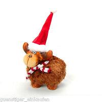 Keramikfigur Weihnachten Elch mit Schal und Mütze Dekoration ca 5x5cm Deko