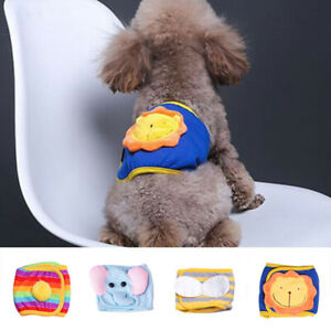 Pet Sanitary Physiological Pants Female Dog Diaper Washable Puppy Shorts Pants