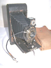 VINTAGE KODAK MODEL.2A FOLDING CAMERA BROWNIE AUTOGRAPHIC WITH CASE
