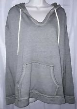 NWT No Boundaries Womans Hoodie Pullover Size 3X Gray Green Long Sleeves