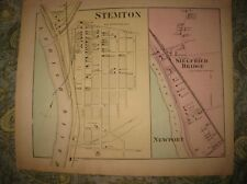 Antique 1874 Stemton Siegfried Bridge Northampton County Pennsylvania Map Rare