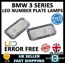 BMW E46 2DR COUPE 98-03 WHITE SMD LED NUMBER PLATE LAMP LIGHT BULB UPGRADE UNITS
