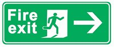 Fire Exit arrow right - Information Self Adhesive Labels 100mm x 148mm 4ct