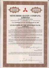 1974 BOND CERTIFICATE - MITSUBISHI RAYON COMPANY LIMITED