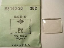 SUC MS140-30 DOME Replacement Watch Crystal 22.3 x 16.0 mm FITS WALTHAM WYMAN