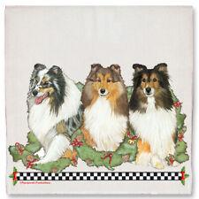 Shetland Sheepdog Sheltie Dog Christmas Kitchen Towel Holiday Pet Gifts