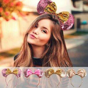 Minnie Mickey Mouse Ears Headband Fancy Dress Hen Night Party Sequin hen night