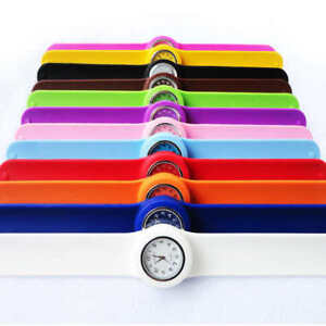 Children's Slap on School Watch - coloured Silicone Fashion Easy Read Watch