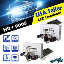 4x 9005 + H11 COB White LED Headlight 6000K 160000LM Bulbs for Low & High Beam !