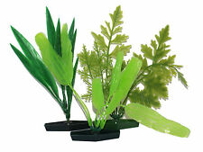 Aquarium plastic plants -pack of three mixed plants
