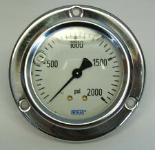 2,000 PSI Panel Mount Pressure Gauge liquid filled (A-G1050)