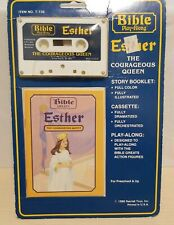 1986 Bible Play-Along Cassette Esther The Courageous Queen Rainfall - USA Rare