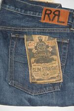 New Ralph Lauren RRL SLim  Straight Denim Jeans 32 x 34