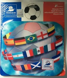 France 98 World Cup Flag Fellowes Licensed Mouse Pad / Mouse Mat - New / Sealed