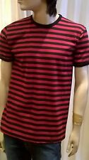 Hombre de Rayas Años 60 Vintage Mod Vencer a Nik Estilo Camiseta Varios Colores